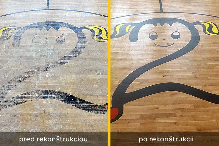 rekonštrukcia športovej podlahy