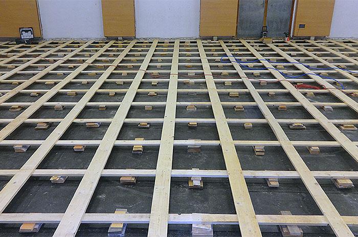 športová drevená podlaha